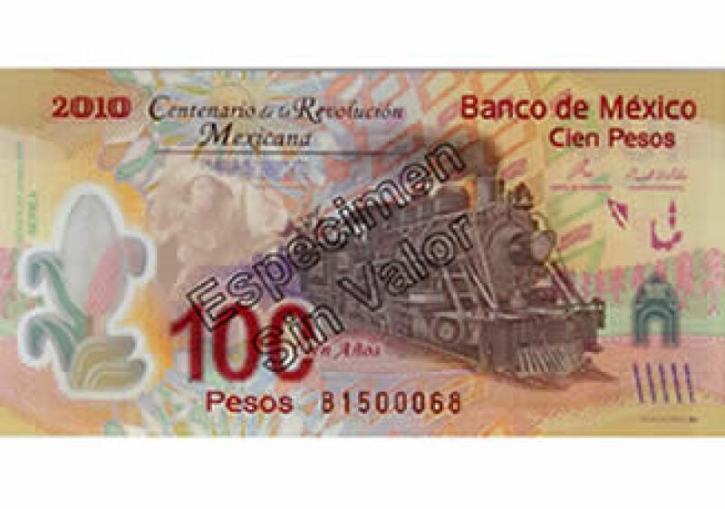 El sello del Banxico en los billetes presentados carece de acento en la palabra espécimen. (Foto: Cortesía Banxico)