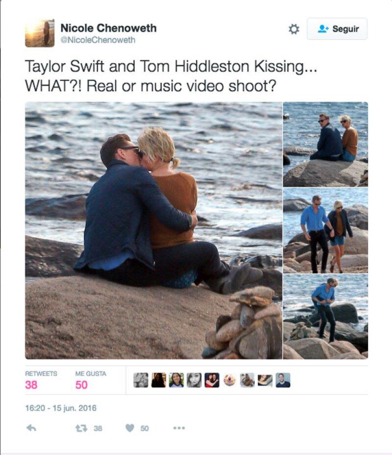 Taylor fue captada por primera vez con Tom Hiddleston la semana pasda.