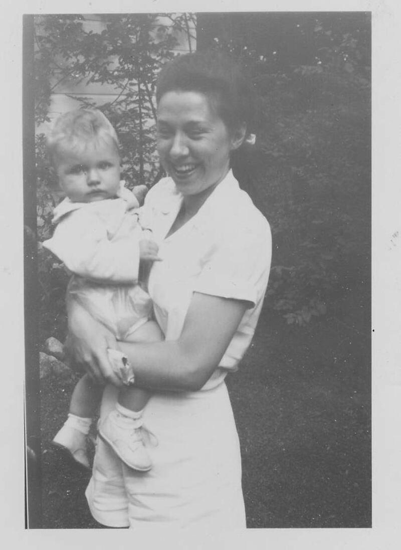 Hillary con su mamá Dorothy.