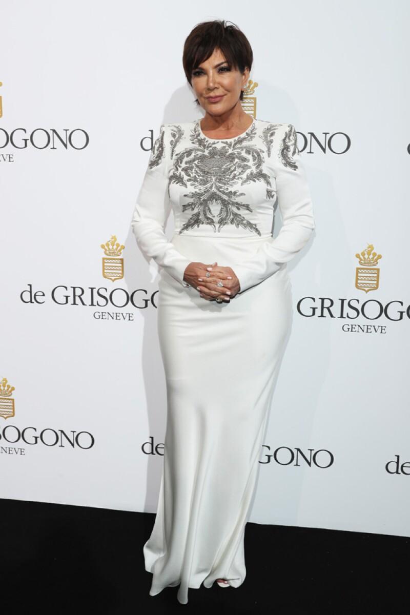 Kris Jenner también asistió a la fiesta de De Grisogono en Cannes.