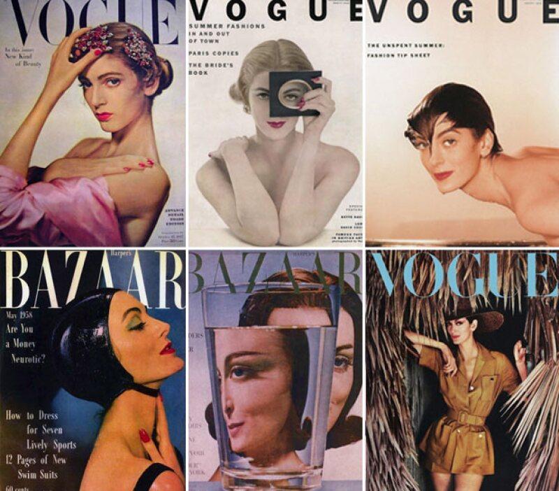 A los 13 años posó para su primer portada en Vogue, que salió en 1947, dos años después.