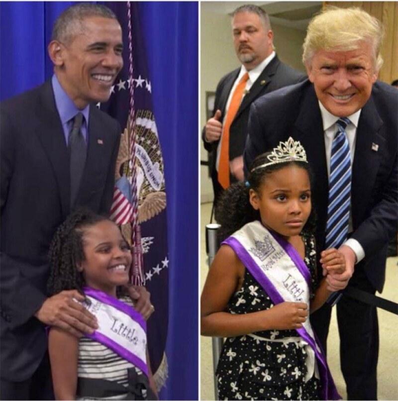 Cuando conoces a Obama vs cuando conoces a Trump