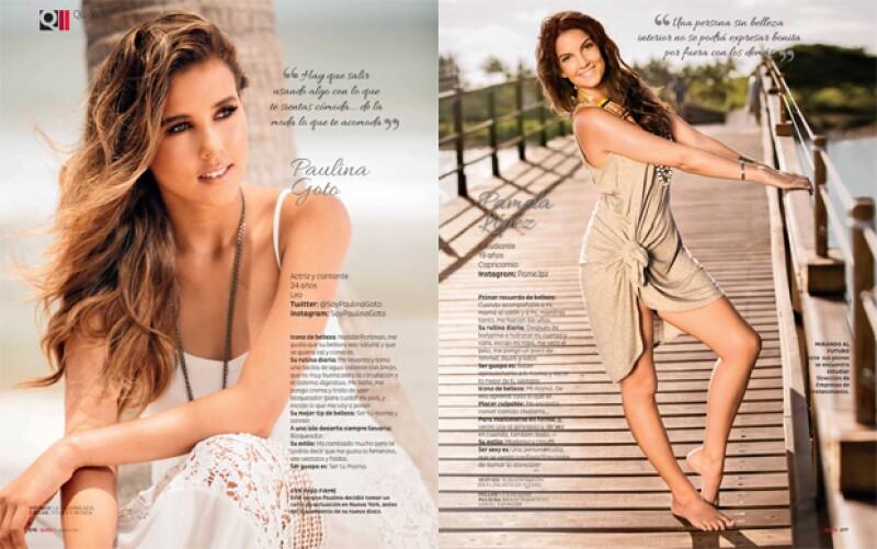 Paulina Goto y Pamela López también son Niñas guapas 2015.
