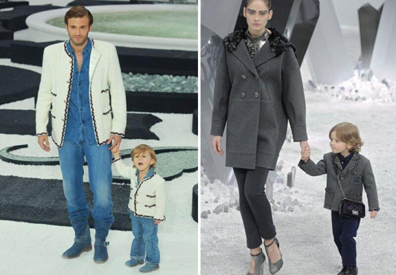 Brad es uno de modelos masculinos más conocidos y es considerado como el protegido de Karl Lagerfeld. Hudson, su hijo de seis, es ahijado del Káiser y es una constante en los desfiles de Chanel.