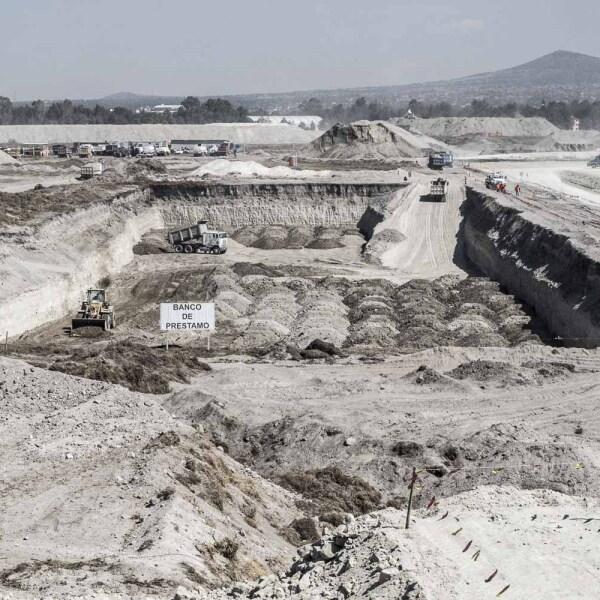 A 104 días de construcción del Aeropuerto Internacional General Felipe Ángeles se lleva un avance casi del 4 por ciento
