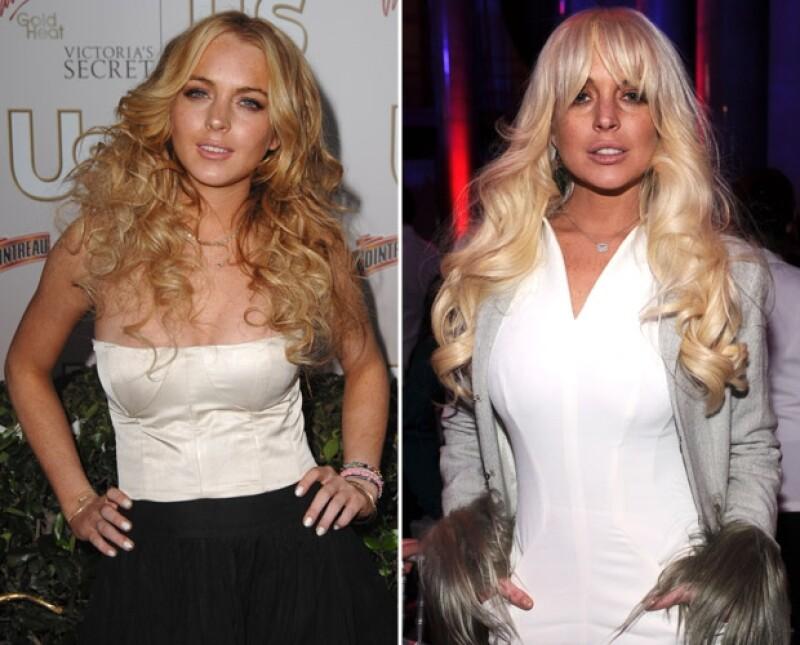 Lindsay Lohan además de cambiar de actitud cambio drásticamente su físico.