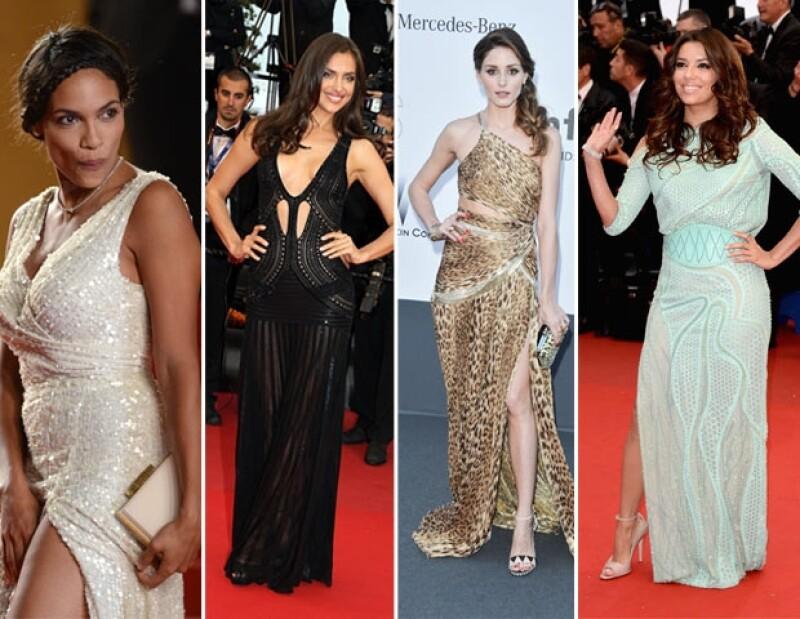 Rosario, Irina, Olivia y Eva, son las actrices que captaron la atención por sus atuendos.