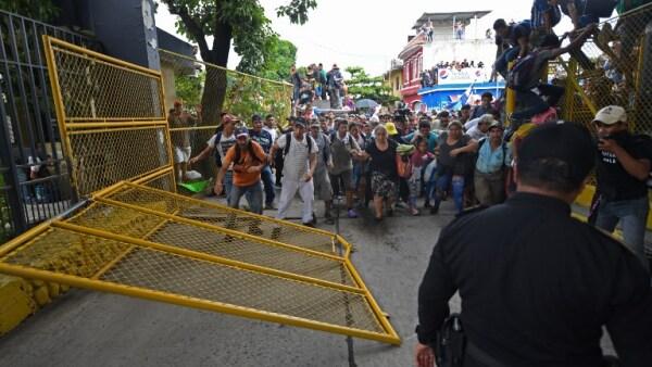 Migrantes centroamericanos en Guatemala