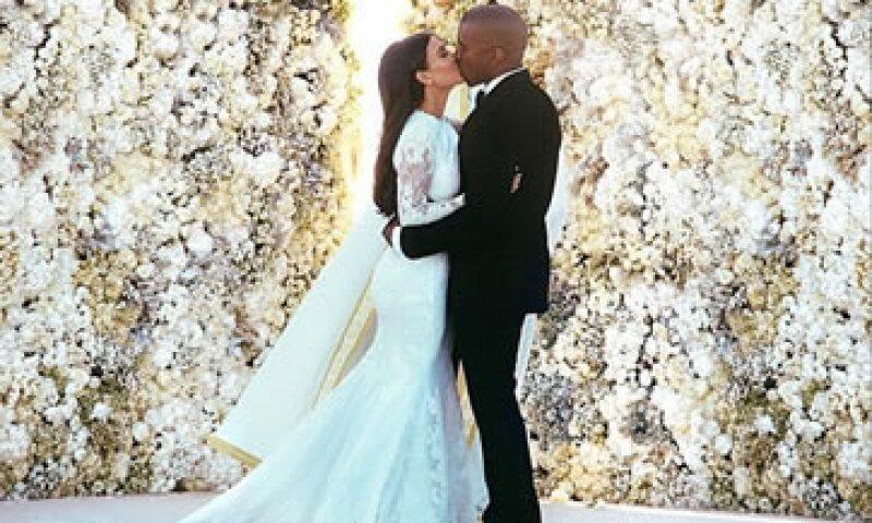 La foto fue publicada en mayo cuando se casó en Italia con Kanye West.  (Foto: Tomada de instagram )