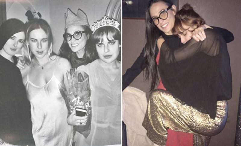 Demi tiene el alma joven y va con sus hijas a todos lados.