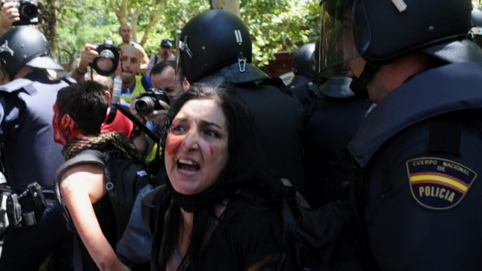 Protesta-España-AFP