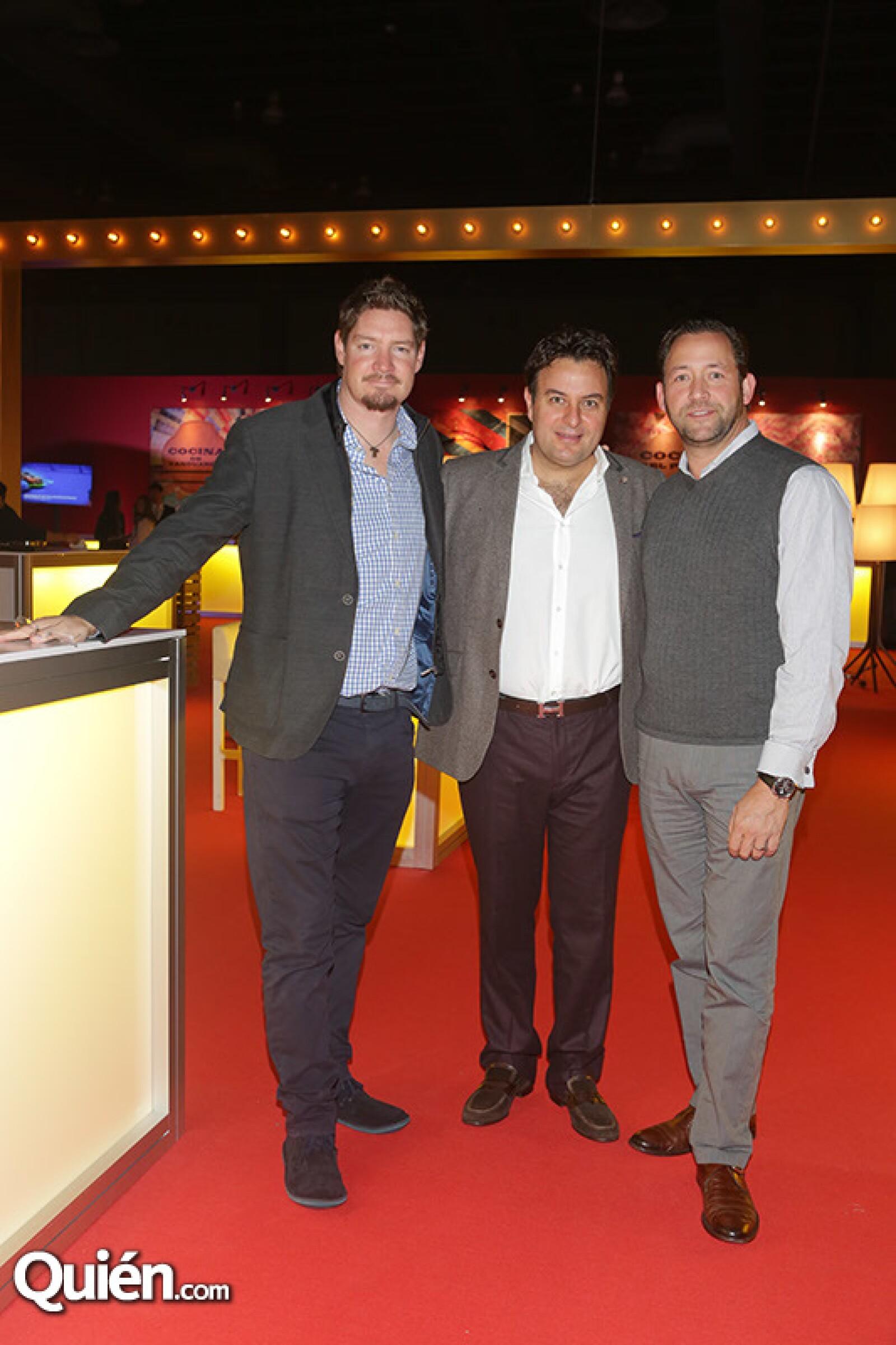 Geranrdo Reinking, Iván Hidalgo y Gerardo Jean