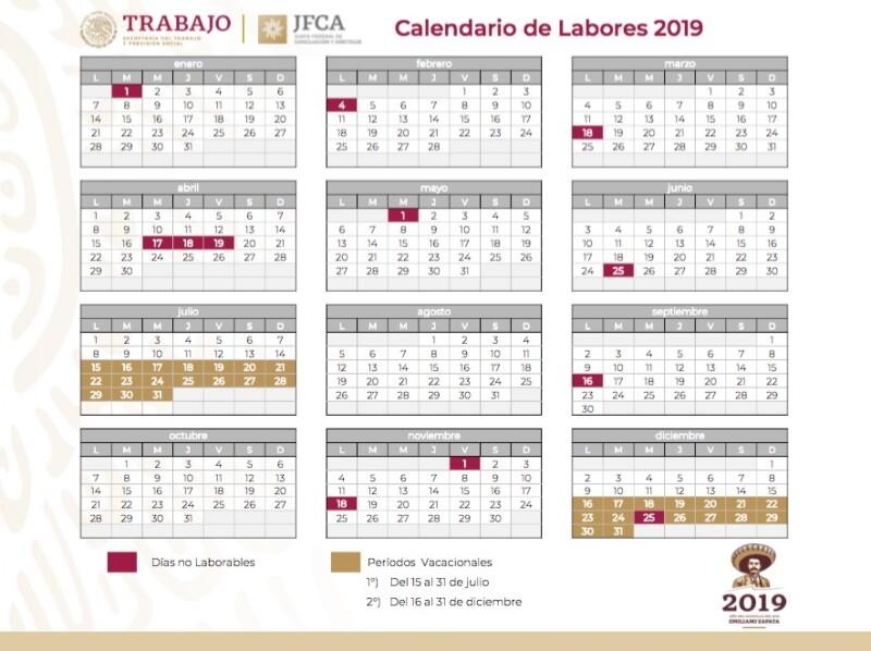 Dias Festivo Calendario 2020 Mexico.Dias Festivos Y Puentes Vacacionales 2019 Y 2020