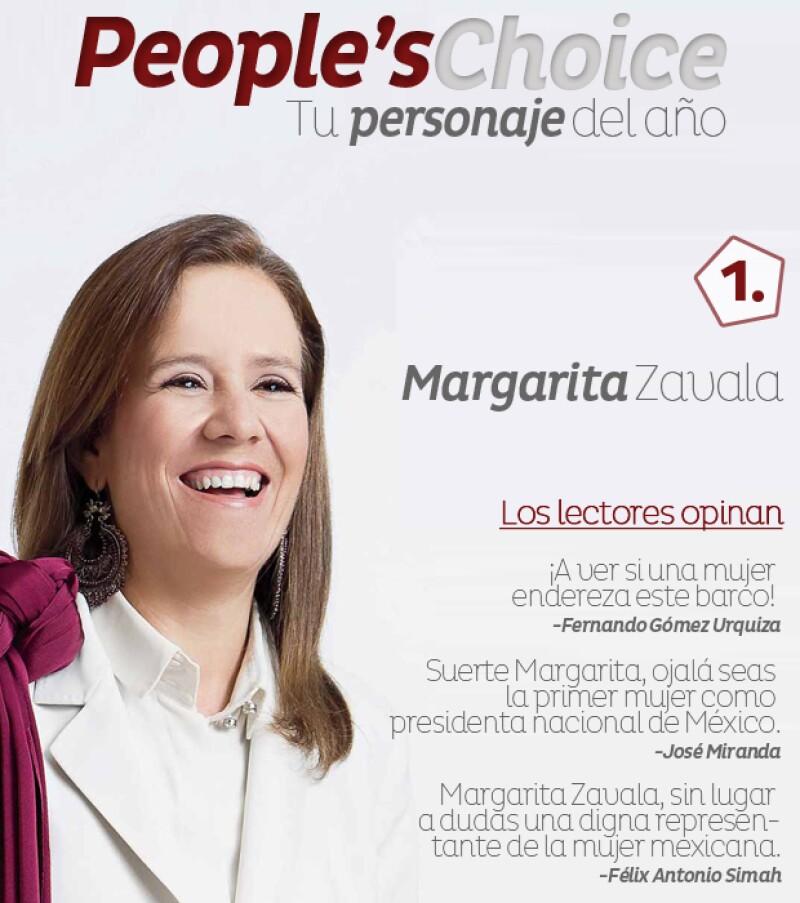 Luego de dos días en que nuestros lectores votaron por su personaje favorito, ¡por fin tenemos ganador!. Y el resultado arrojó que Margarita Zavala es la más querida, seguida de Martha Debayle.