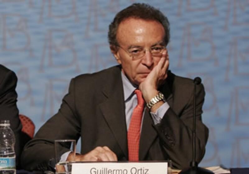 El Gobernador del Banco de México, Guillermo Ortiz, podría repetir un tercer mandato (Foto: Notimex)