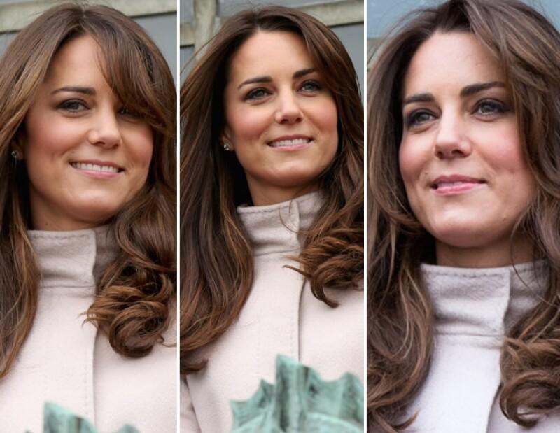 En su visita oficial a Cambridge el día de hoy Kate usó un abrigo MaxMara.