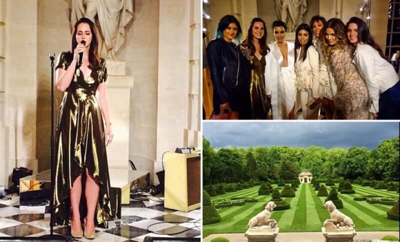 Los pequeños ángeles en el cielo nos bendicen, escribió Kim ante la impresionante vista del Chateau de Valentino, quien tuvo a Lana del Rey para amenizar la reunión.