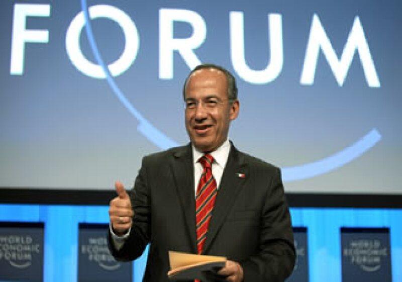 Calderón urgió en Davos a tomar acciones contra el calentamiento global. (Foto: Notimex)