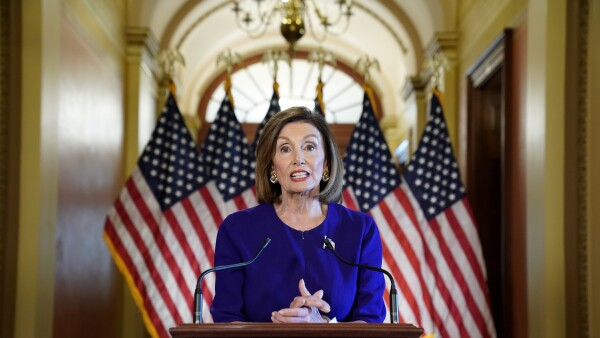 FILE PHOTO: House Speaker Nancy Pelosi announces Trump impeachment inquiry at the U.S. Capitol in Washington