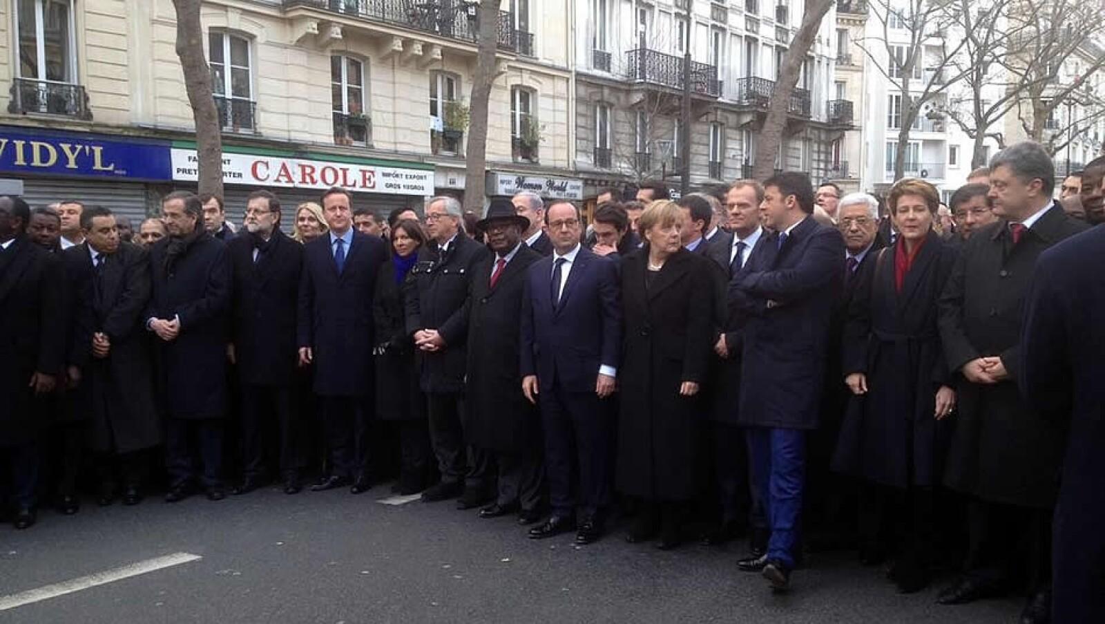 Lideres marcha republicana Charlie Hebdo