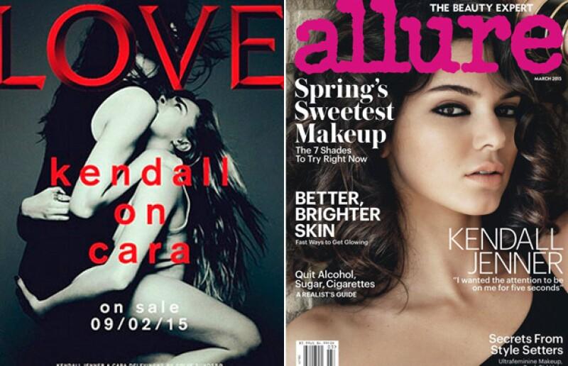 Kendall apareció en portadas de reconocidas revistas en todo el año.