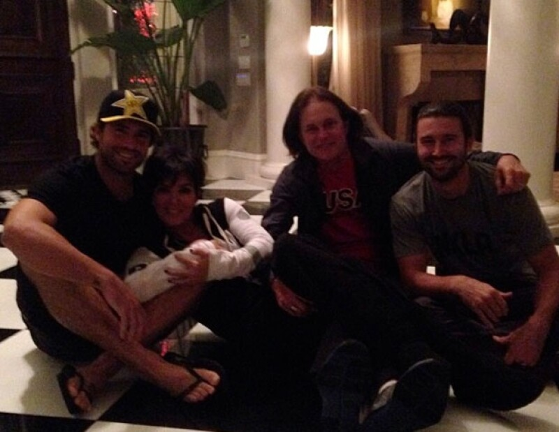 Brody Jenner se sumó a Kris al compartir una imagen de la familia.