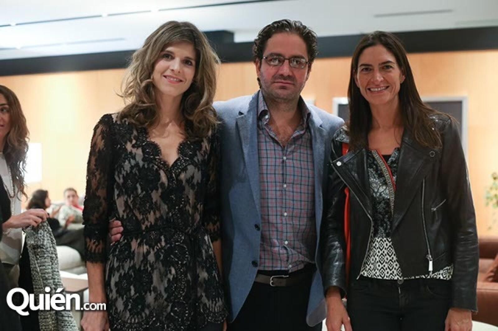 Vanessa Padilla,Carlos Moratinos y Lorena Vieyra