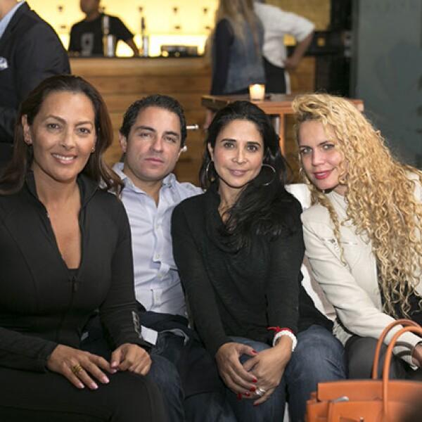 Verónica del Castillo,Federico Ramírez,Ariadna Pulido y Ailín Soto