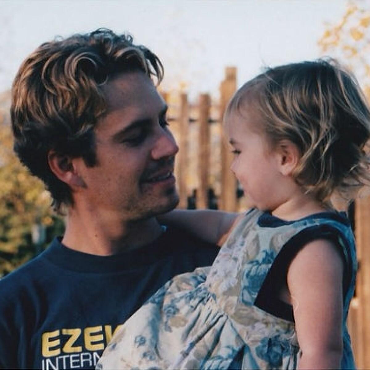 Hija de Paul Walker recuerda a su papá con foto inédita