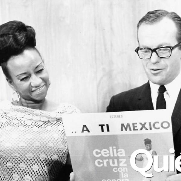 Con Celia Cruz.