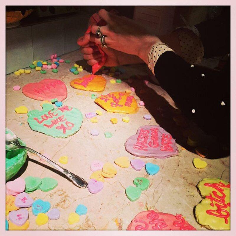 Estas son algunas de las galletas que Blake prepara para celebrar a su familia, en especial a su esposo, Ryan Reynolds.