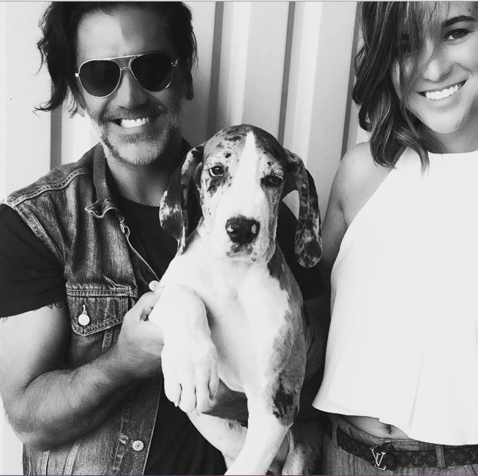 Alejandro y Karla son amantes de los perros. Este Gran Danés es Kalum.