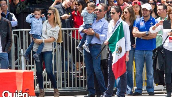 Carlos Slim Domit, su esposa María Elena Torruco y sus hijos.