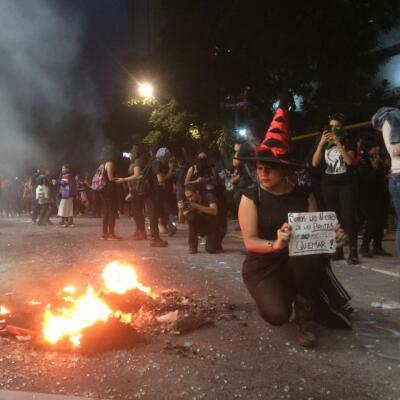 Protesta mujeres en CDMX