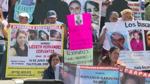 Familiares de desaparecidos se manifestaron contra la impunidad en México