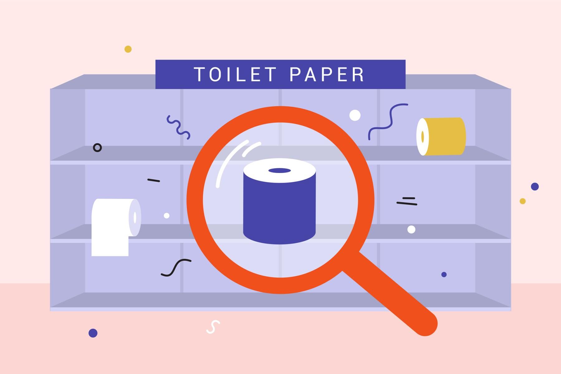 Toilet paper panic due to coronavirus and quarantine