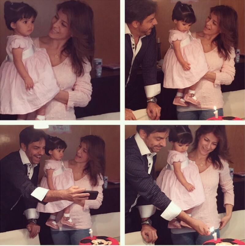 Eugenio Derbez y Alessandra Rosaldo compartieron encantadoras imágenes de la celebración por el primer año de vida de su hija.