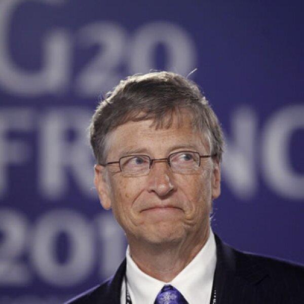 Bill Gates, fundador de Microsoft, asistió al encuentro y se reunió con el presidente Felipe Calderón.