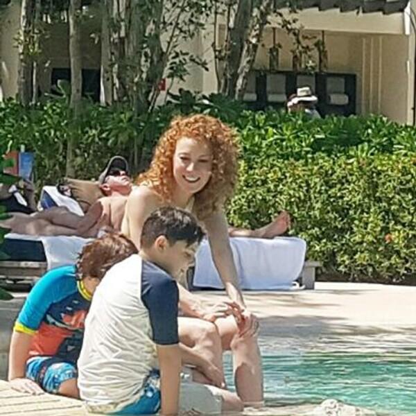 Daniela Magún sabe cómo relajarse durante su estancia en la Riviera Maya