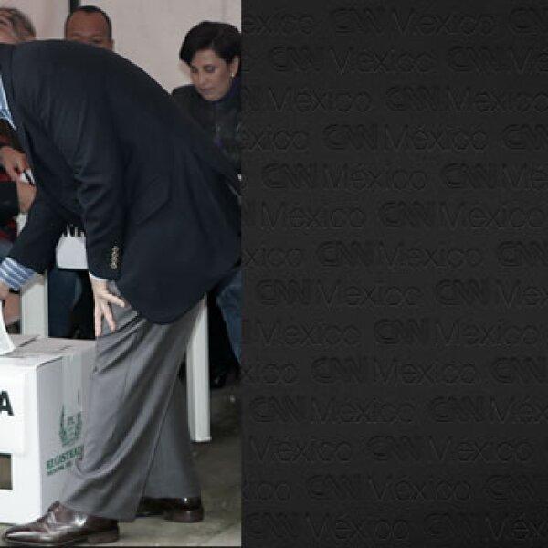 Presidente de Colombia vota