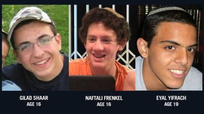 jovenes secuestrados  en israel