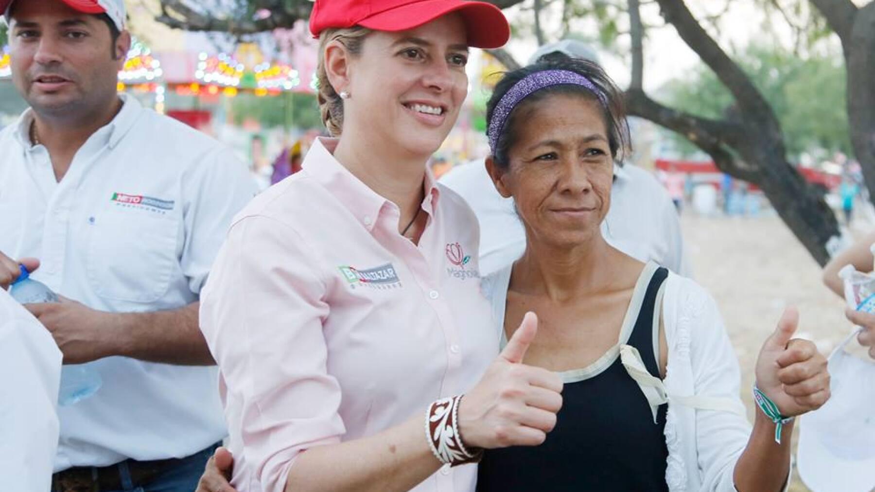 La esposa de Baltazar Hinojosa encabeza el movimiento Magnolias Tamaulipecas, que promueve las propuestas del priista.
