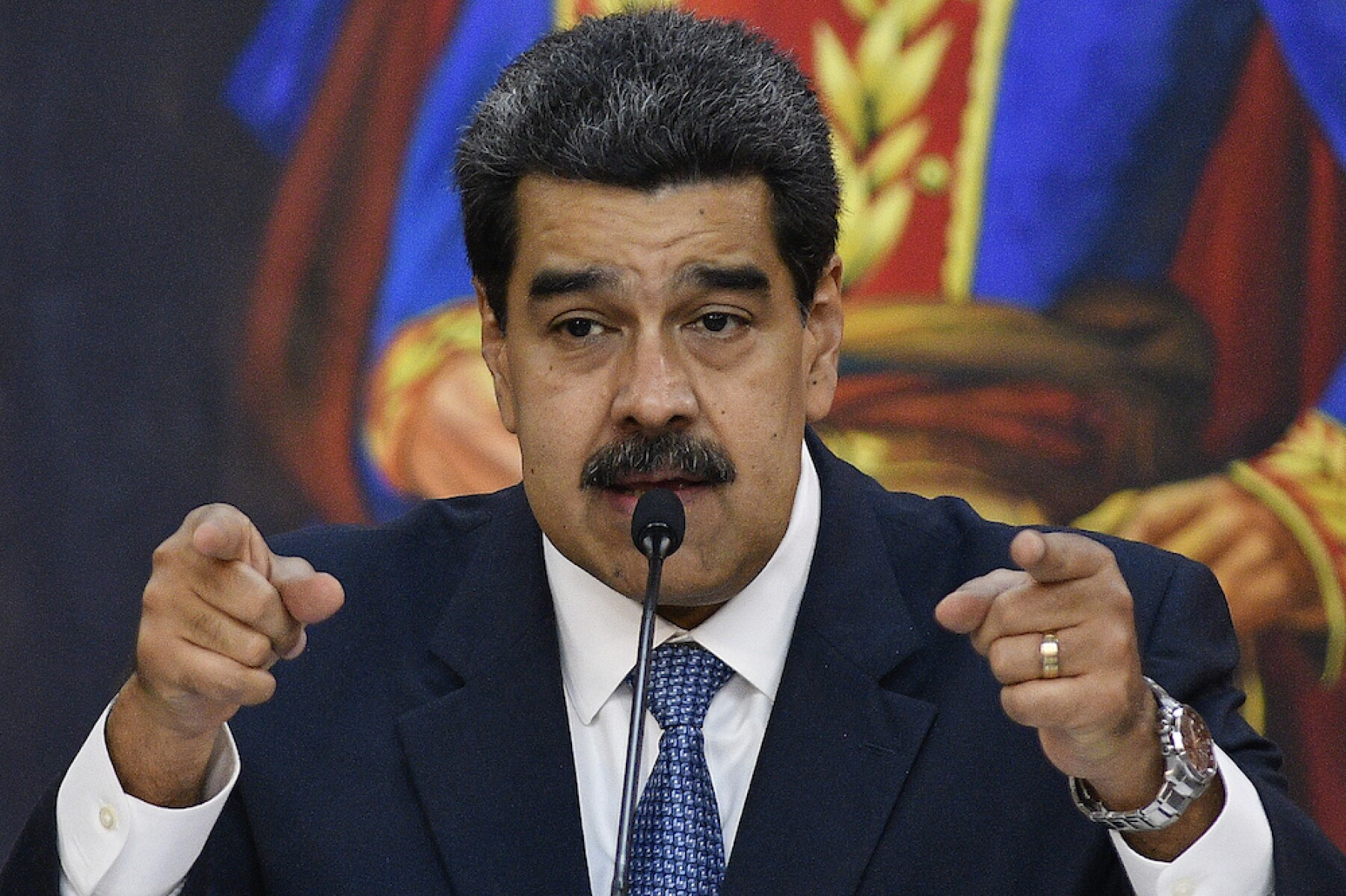Nicolas Maduro Hosts The Simon Bolivar Journalism National Award Ceremony