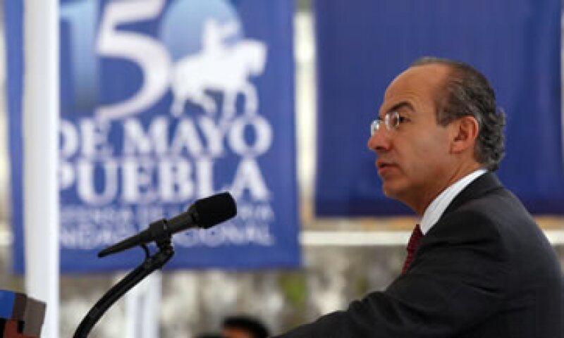 Felipe Calderón reconoció que la situación que se vive en Estados Unidos podría complicar las cosas, por tratarse del principal socio comercial de México. (Foto: Notimex)