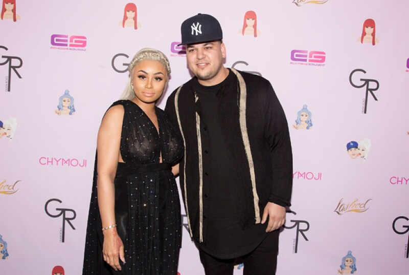 Rob Kardashian y Blac Chyna en un reciente evento en Hollywood.
