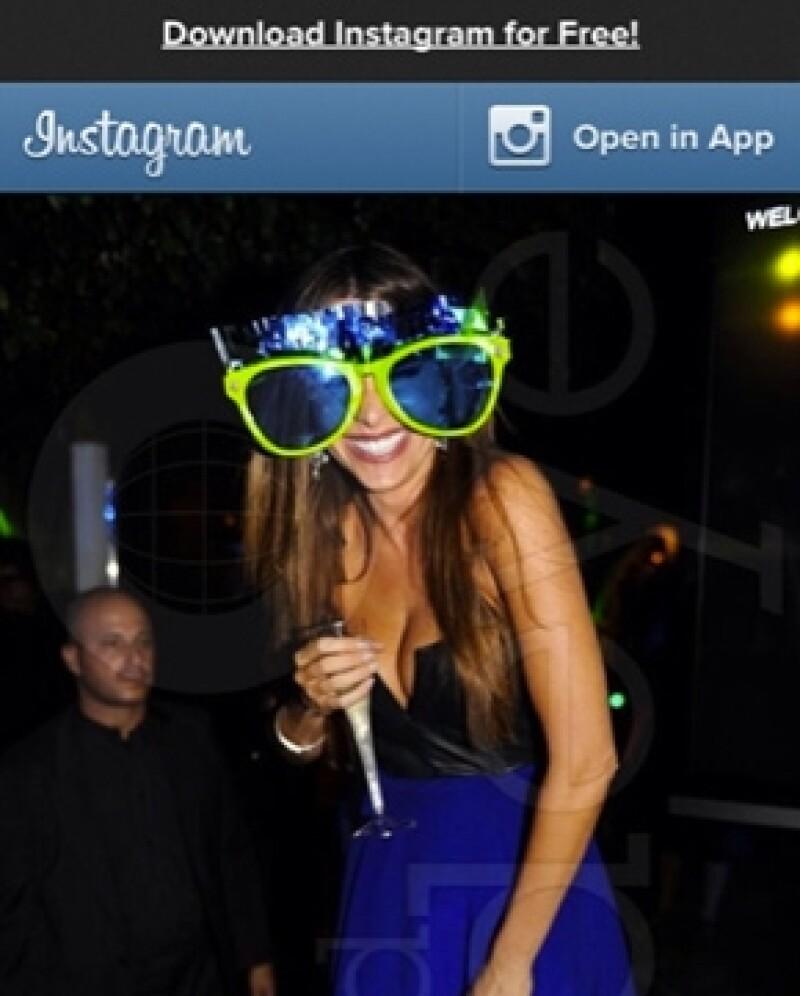 Esta es la foto que la actriz subió a su cuenta de Who Say.com