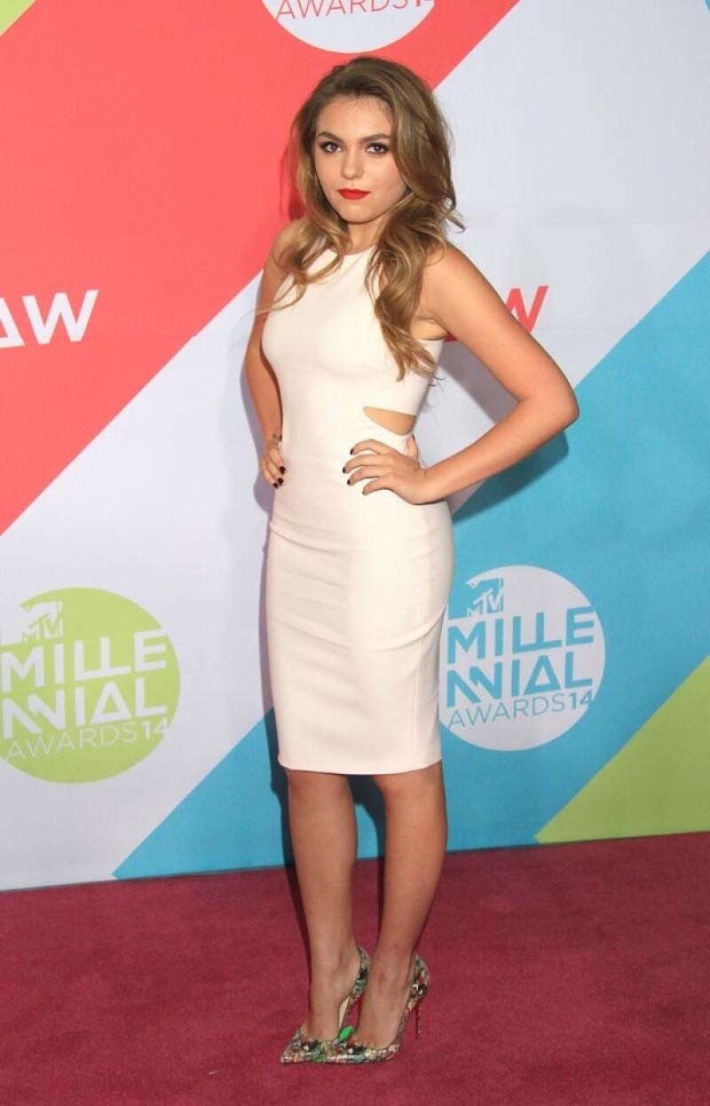 La actriz mexicana asistió a la entrega de los MTV Millennial Awards luciendo una figura más estilizada pruducto de la actividad física durante las vacaciones, según contó al diario Reforma.