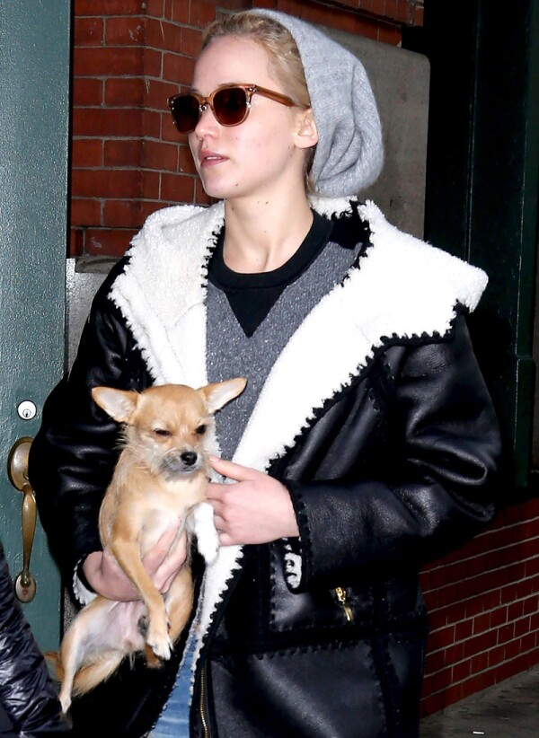 Jennifer Lawrence out and about, New York, America - 25 Nov 2015