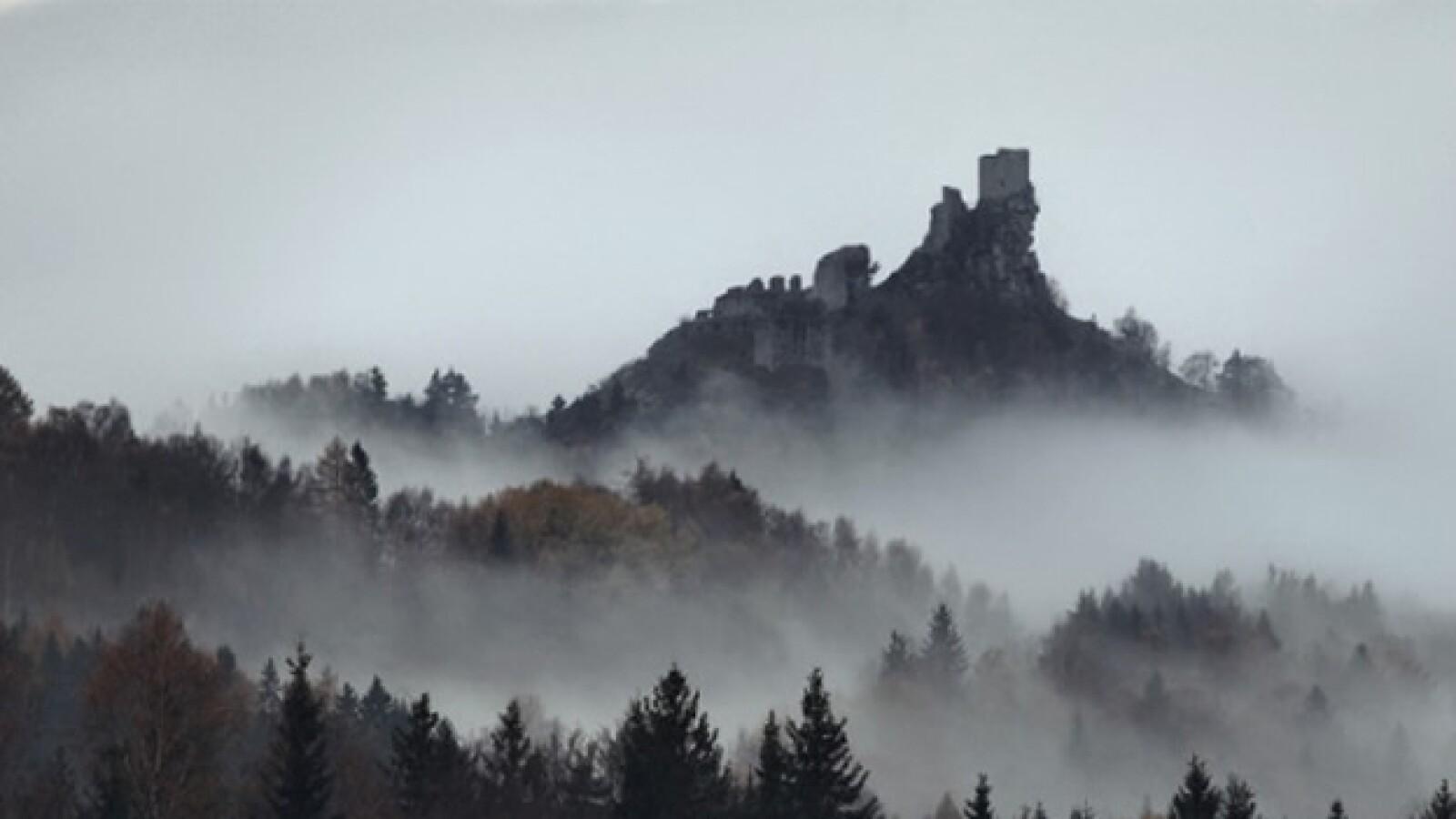 Unas ruinas del castillo de Flossenburg, Alemania