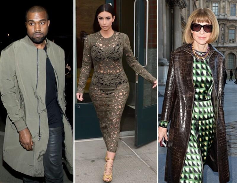 Kim, Kanye y Anna cenaron en el restaurante Waverly Inn de Nueva York.